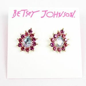 Betsey Johnson Paradise Lost Stone Stud Earrings